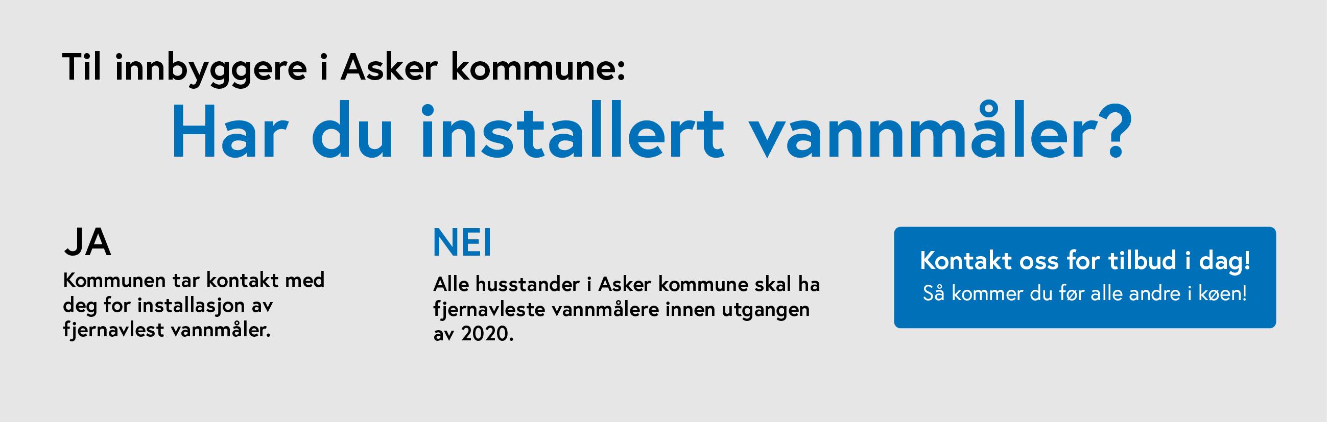 Vannmåler i Asker Kommune
